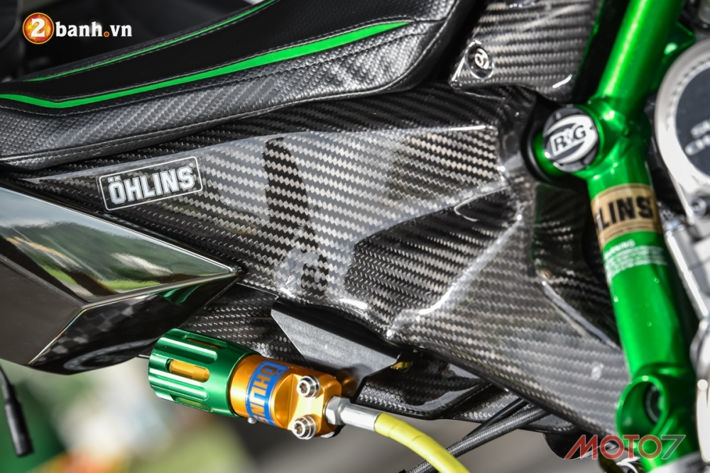 Kawasaki H2 sieu pham Ninja Full Carbon fiber - 14