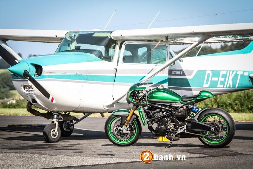 Kawasaki Vulcan do phong cach Cafe Race duong pho - 10