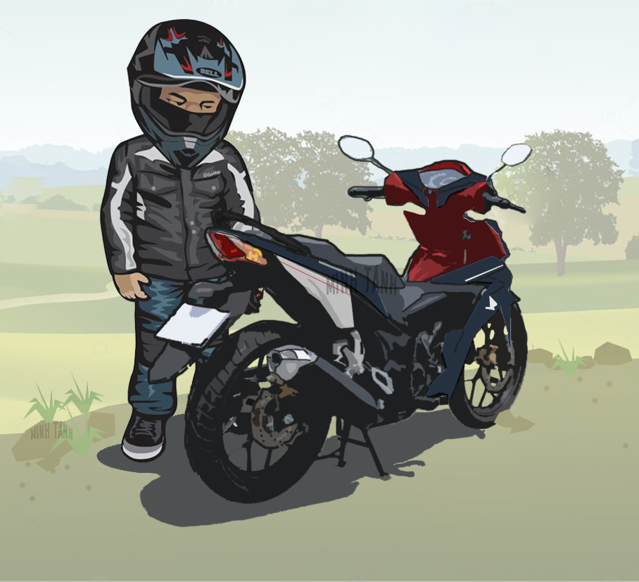 Phan 2 Bo anh xe Honda Winner 150 voi phong cach hoat hinh chibi doc dao - 2