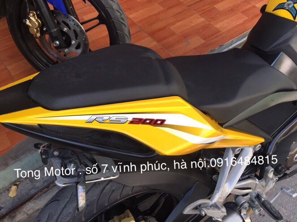 Bajaj RS200 2016 Xe chay 1800 cay so xe nhu moi tinh dap thung khach hang ve co the dang ky ten