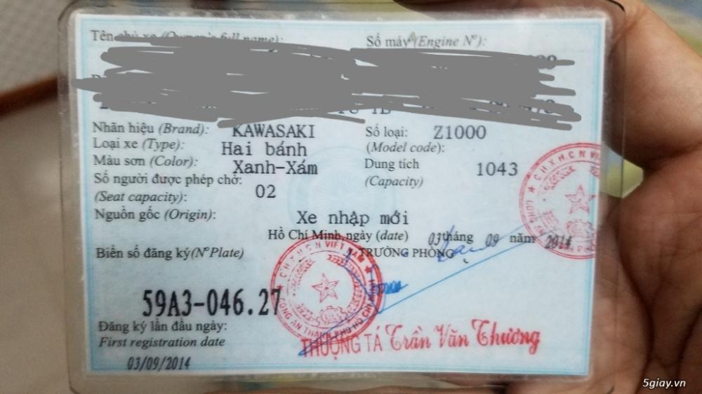Ban Kawasaki Z1000Date 92014HQCNABSSaigonBien dep 9 nutNgay chu - 28