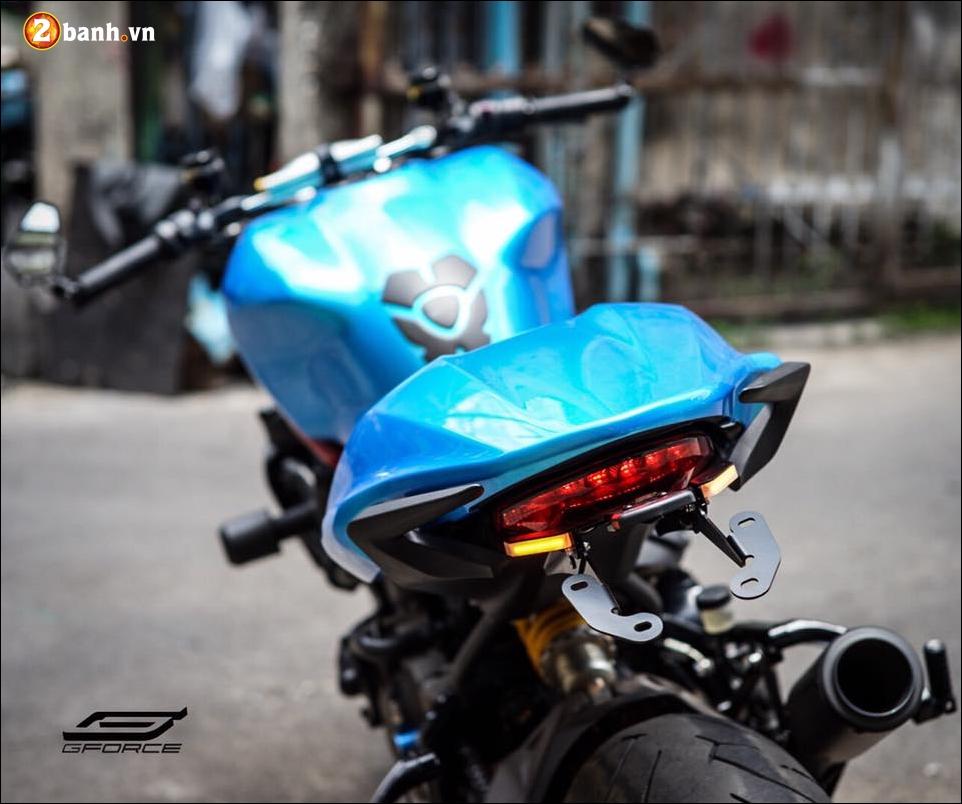 Ducati Monster 821 do noi bat cung xanh tuoi mat Atlantis Blue - 4