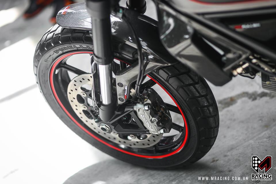 Ducati Scrambler dep tinh te tu nguyen lieu Titanium - 3