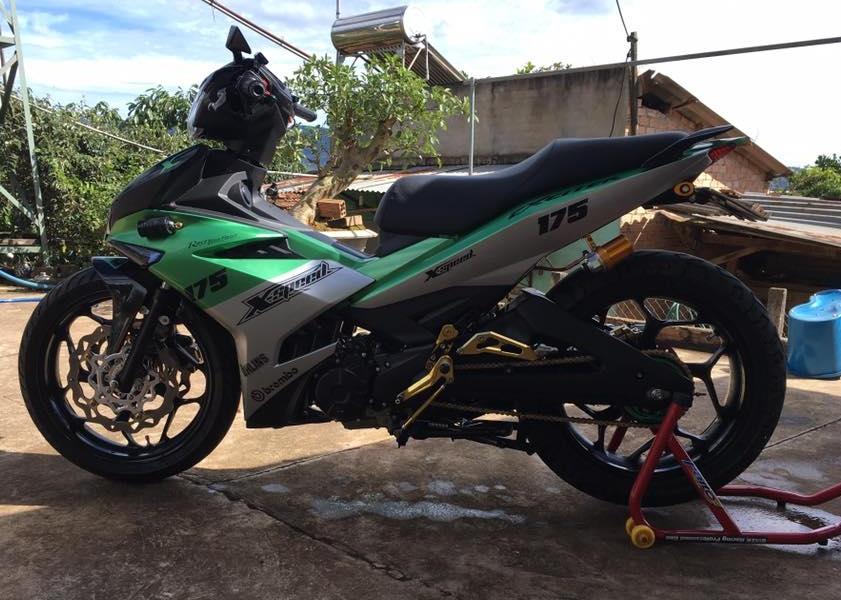 Exciter 150 do kieng buc pha day manh me cua biker Lam Dong - 3