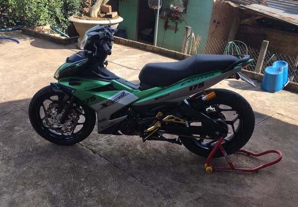 Exciter 150 do kieng buc pha day manh me cua biker Lam Dong - 6