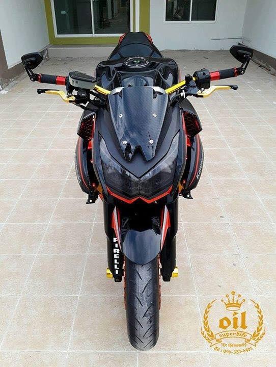 Kawasaki Z1000 nong bong ben dan chan chrome choi chang - 2