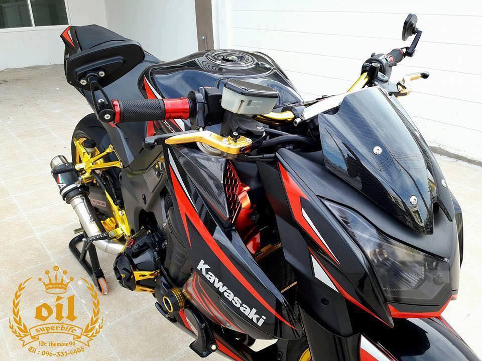 Kawasaki Z1000 nong bong ben dan chan chrome choi chang - 3