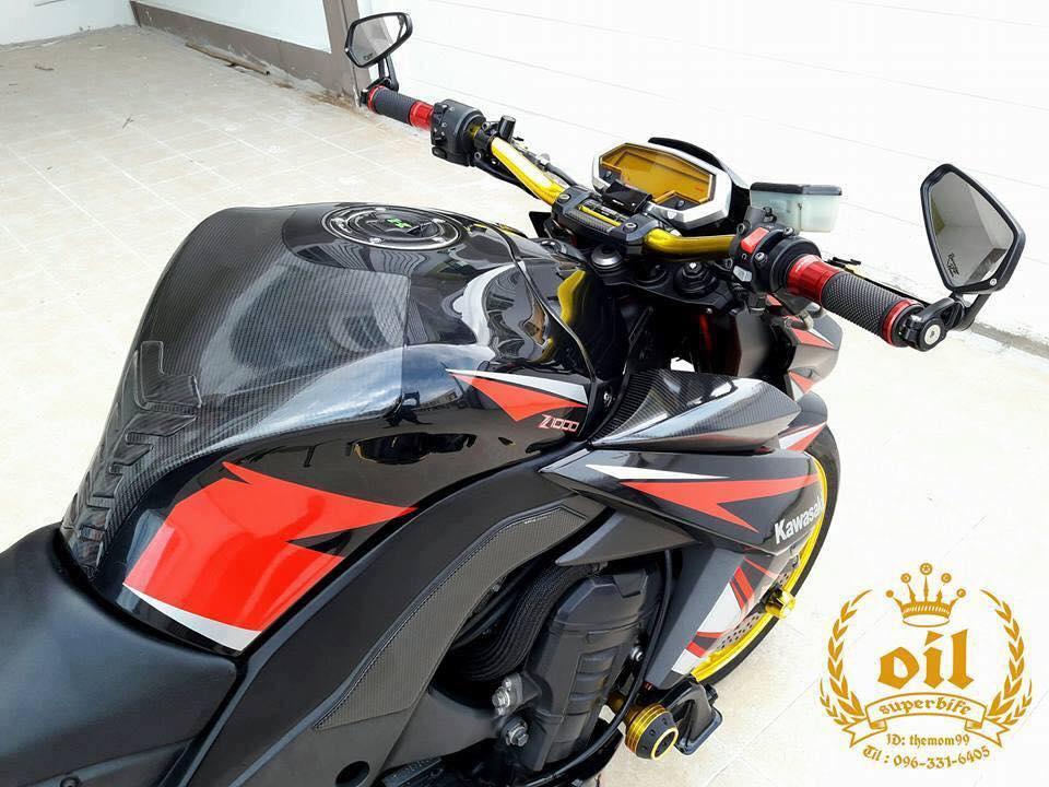 Kawasaki Z1000 nong bong ben dan chan chrome choi chang - 4