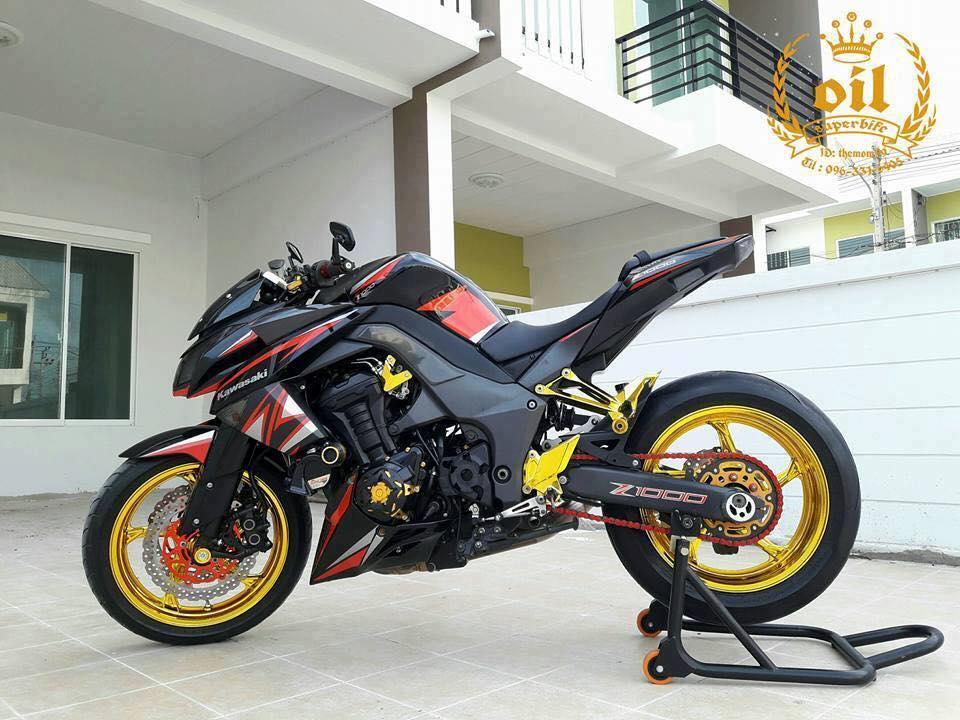 Kawasaki Z1000 nong bong ben dan chan chrome choi chang - 6