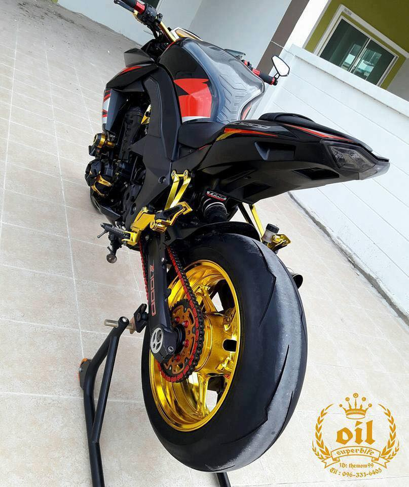 Kawasaki Z1000 nong bong ben dan chan chrome choi chang - 7
