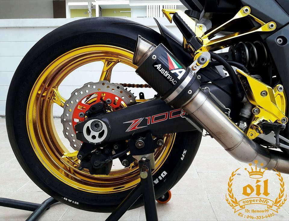 Kawasaki Z1000 nong bong ben dan chan chrome choi chang - 12