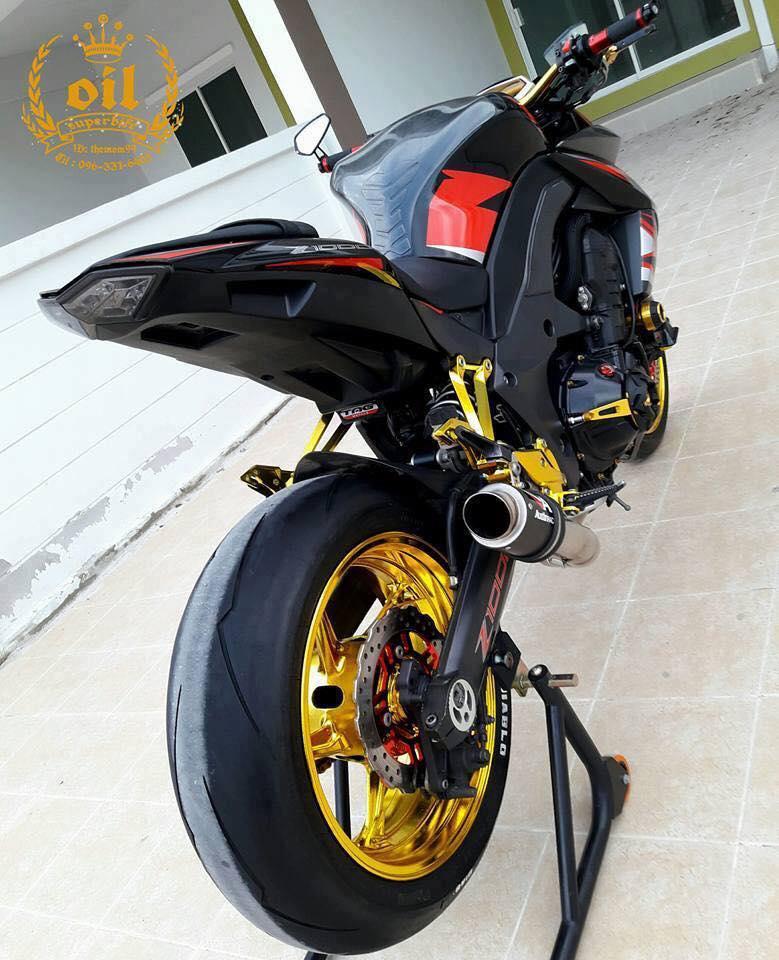 Kawasaki Z1000 nong bong ben dan chan chrome choi chang - 13