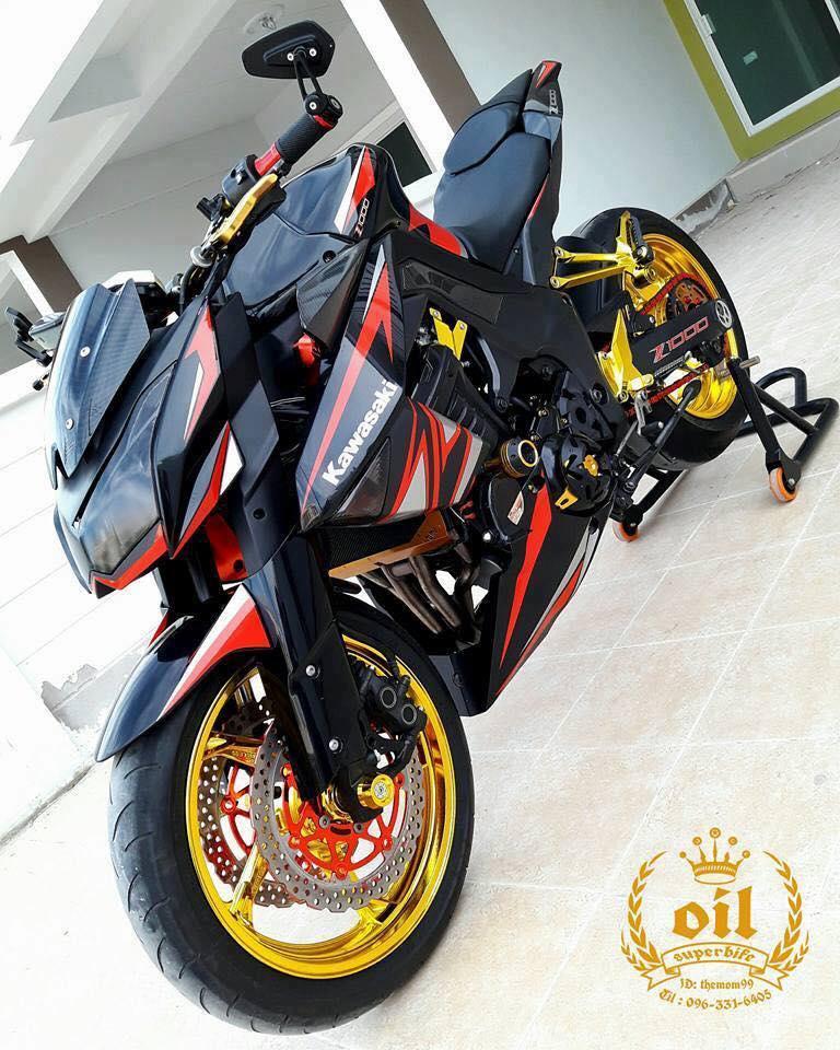Kawasaki Z1000 nong bong ben dan chan chrome choi chang - 14