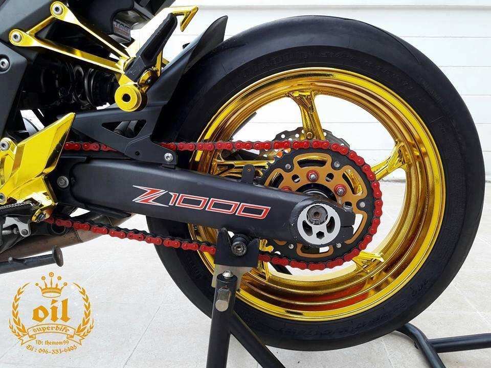 Kawasaki Z1000 nong bong ben dan chan chrome choi chang - 15