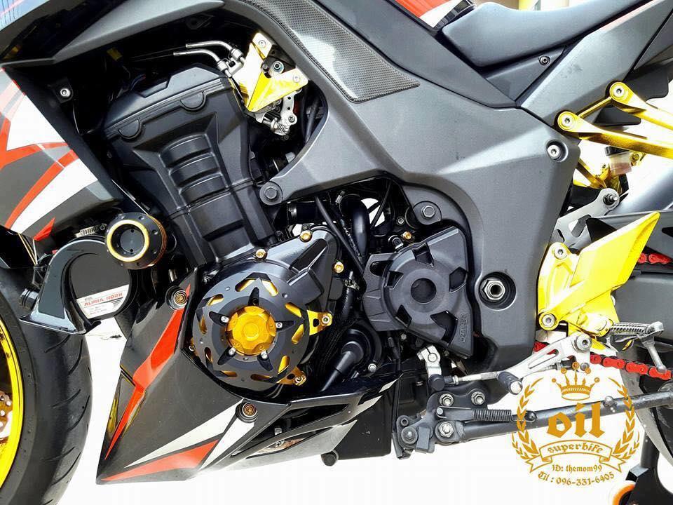 Kawasaki Z1000 nong bong ben dan chan chrome choi chang - 16