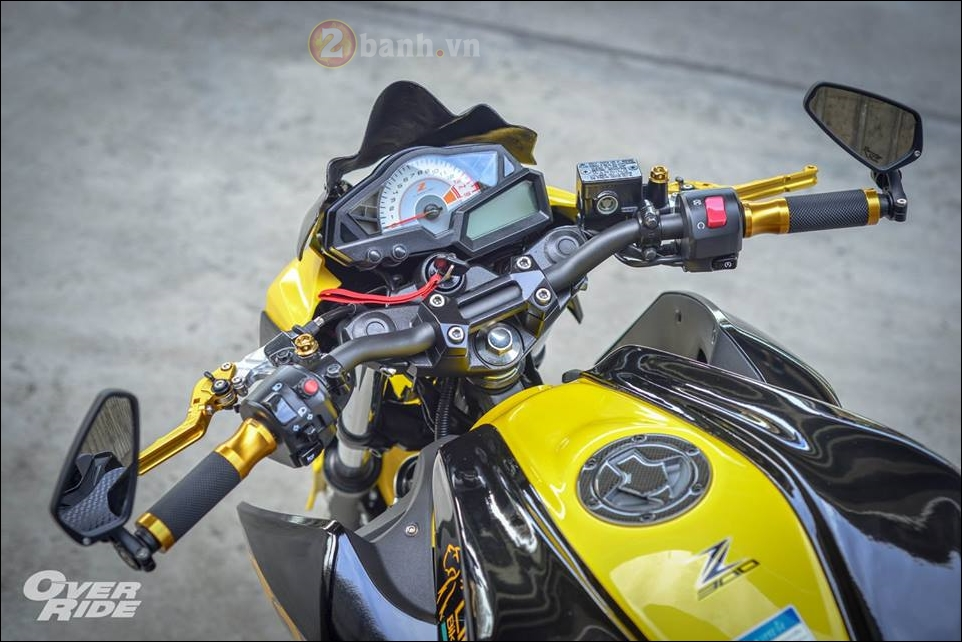 Kawasaki Z300 do noi loan cung phong cach Monster yellow - 4