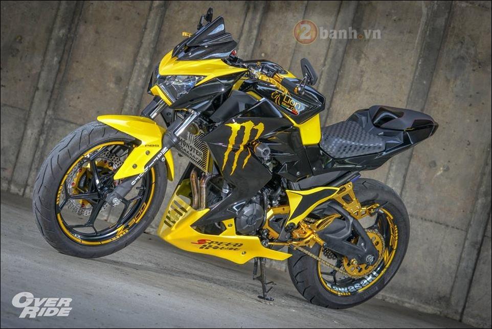 Kawasaki Z300 do noi loan cung phong cach Monster yellow - 14