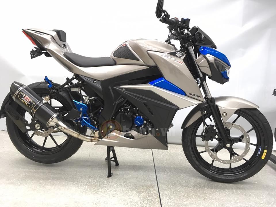 Suzuki tung ra mau xe GSXS150 phien ban Custom - 2