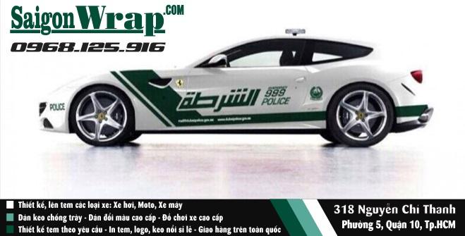 SaiGonWrapCom Tem Xe Hoi Canh Sat Dubai Thi Cong Tem Xe Chuyen Nghiep - 6