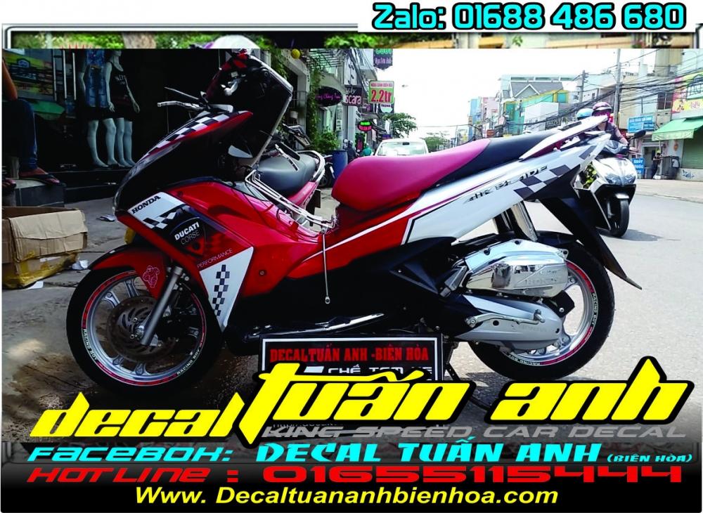 Tong hop bo tem xe Airblade 125 chat do Decal Tuan Anh bien hoa thuc hien - 13
