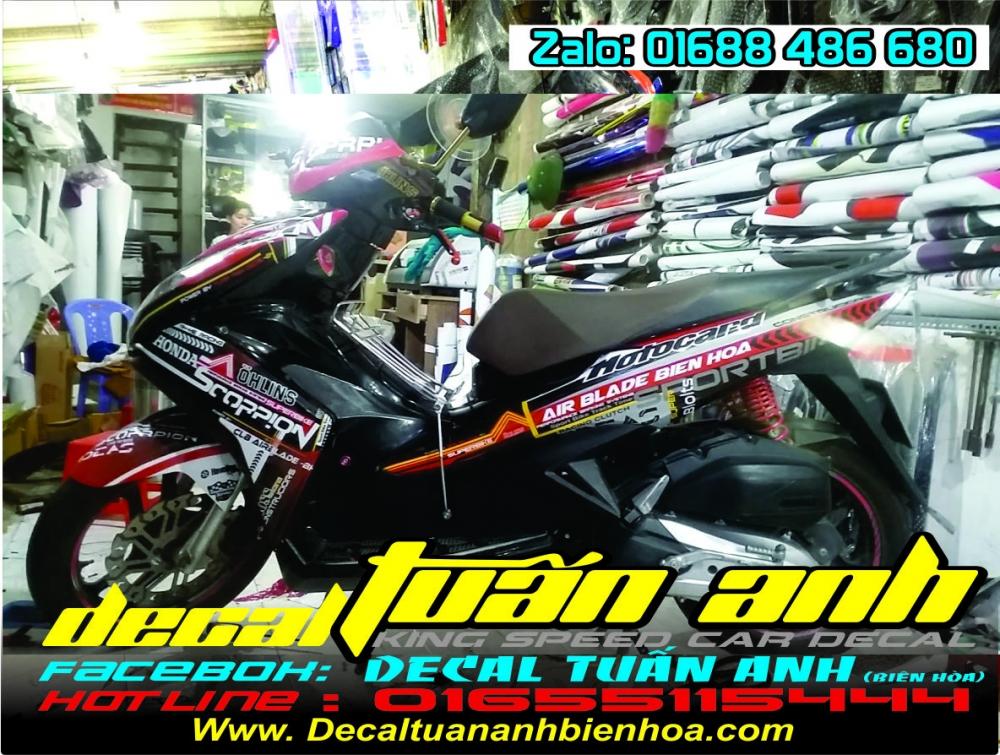 Tong hop bo tem xe Airblade 125 chat do Decal Tuan Anh bien hoa thuc hien - 21