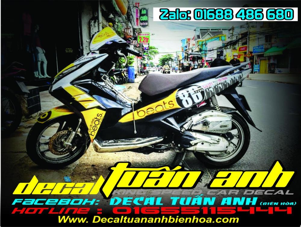 Tong hop bo tem xe Airblade 125 chat do Decal Tuan Anh bien hoa thuc hien - 29