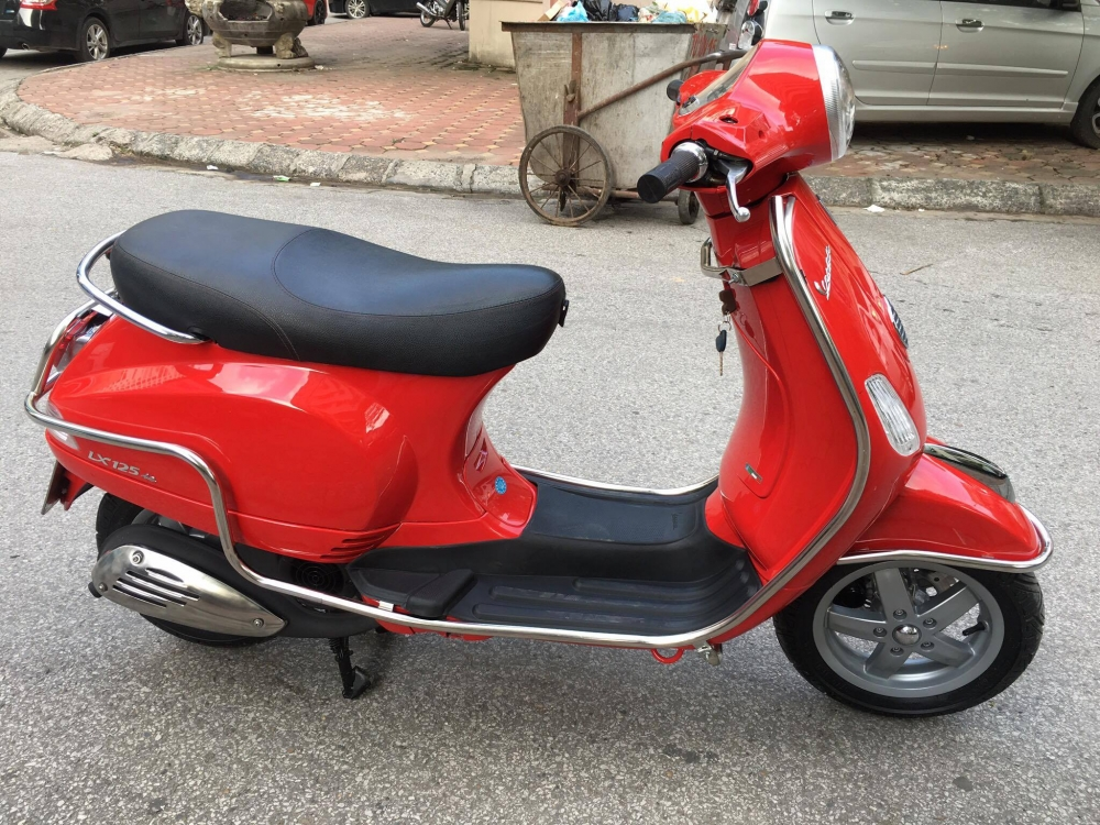 Vespa LX 125ie doi moi 2012 gia 32tr bs 29B 22887 mau Do rat moi giay to cchu - 3
