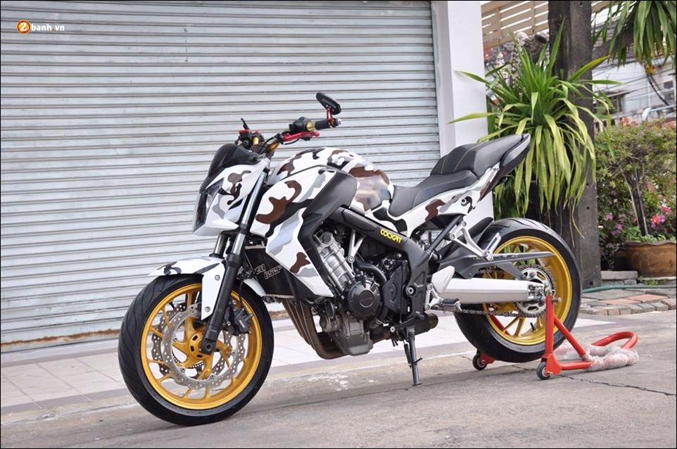 Honda CB650F do pha cach qua lot ao Camo huyen thoai - 4