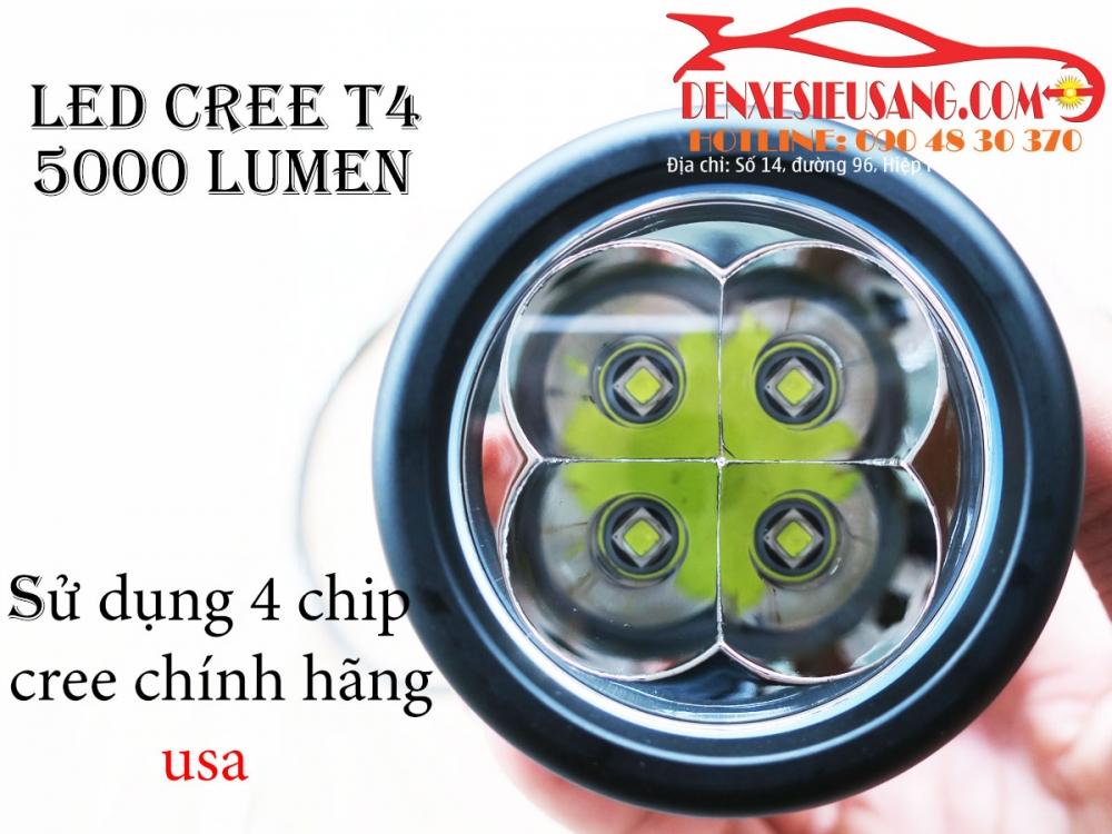den led cree t4 sang sieu khung chinh hang usa chong nuoc ip68 - 4