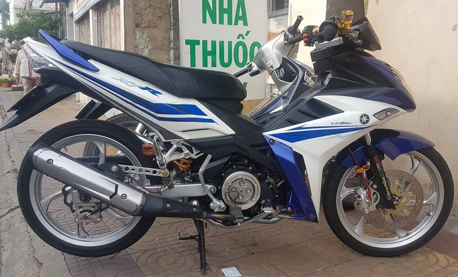 Exciter 135 do an than phia sau bo canh X1R cua biker Dong Thap - 3