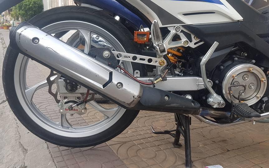 Exciter 135 do an than phia sau bo canh X1R cua biker Dong Thap - 7