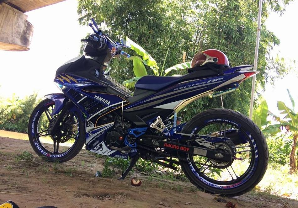 Exciter 150 do kieng nhe nhang tao an tuong cua Biker Hau Giang - 3