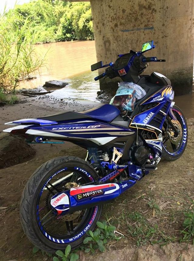 Exciter 150 do kieng nhe nhang tao an tuong cua Biker Hau Giang - 5