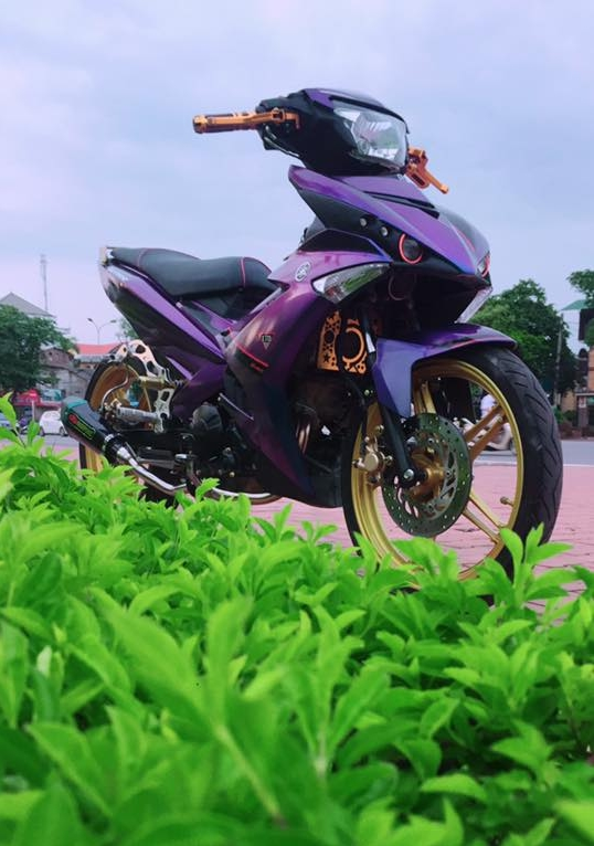 Exciter 150 do kieng sieu ngau dang cap cua biker Yen Bai - 3