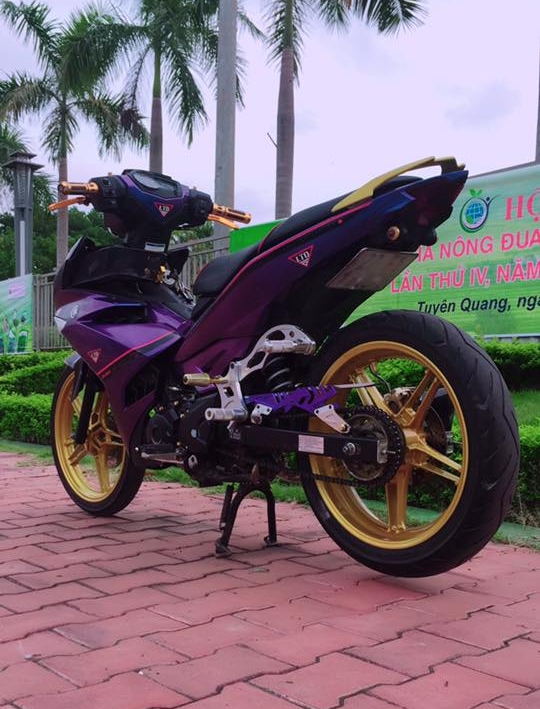 Exciter 150 do kieng sieu ngau dang cap cua biker Yen Bai - 5