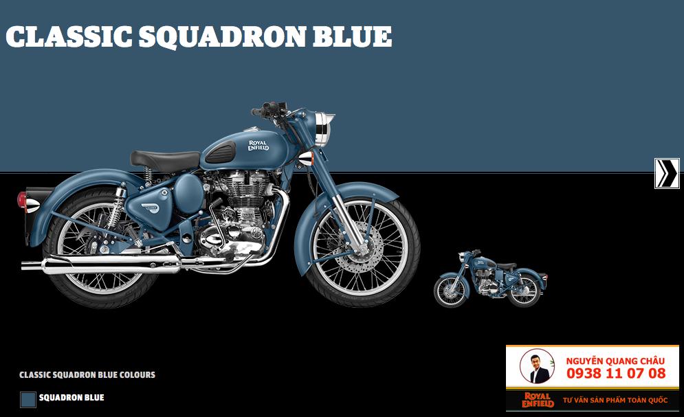 GIA XE ROYAL ENFIELD CLASSIC 500 mau Squadron Blue Mau Xanh Khong Luc LH 0938 11 07 08 - 5