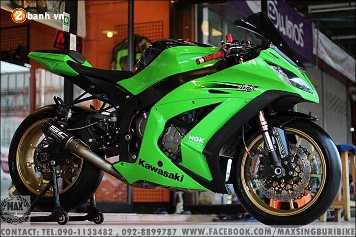 Kawasaki Ninja ZX10R do hao nhoang voi tong mau xanh la - 3