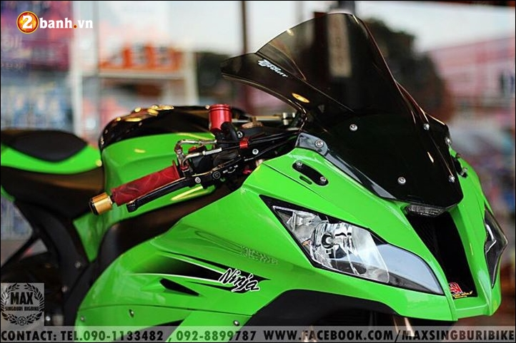 Kawasaki Ninja ZX10R do hao nhoang voi tong mau xanh la - 5