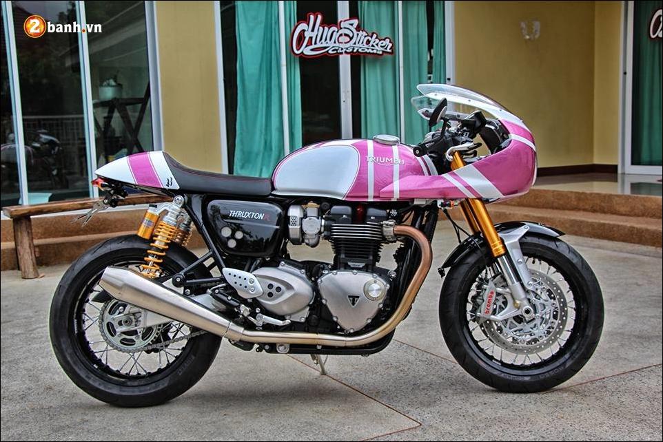 Triumph thruxton r 1200 do nu tinh cung mau hong kitty - 7