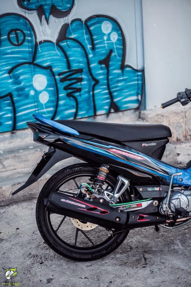 Yamaha Sirius do kieng dep lung linh cua biker Lam Dong - 7