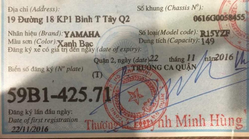 Ban YAMAHA R15YZF V2 2016 Xanh Bac 69000000 d - 8