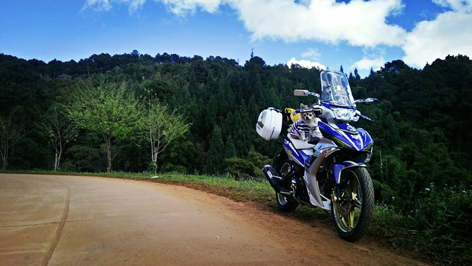Bo anh chu cun dang yeu di phuot tren chiec Exciter 150 do cua biker nuoc ban - 10
