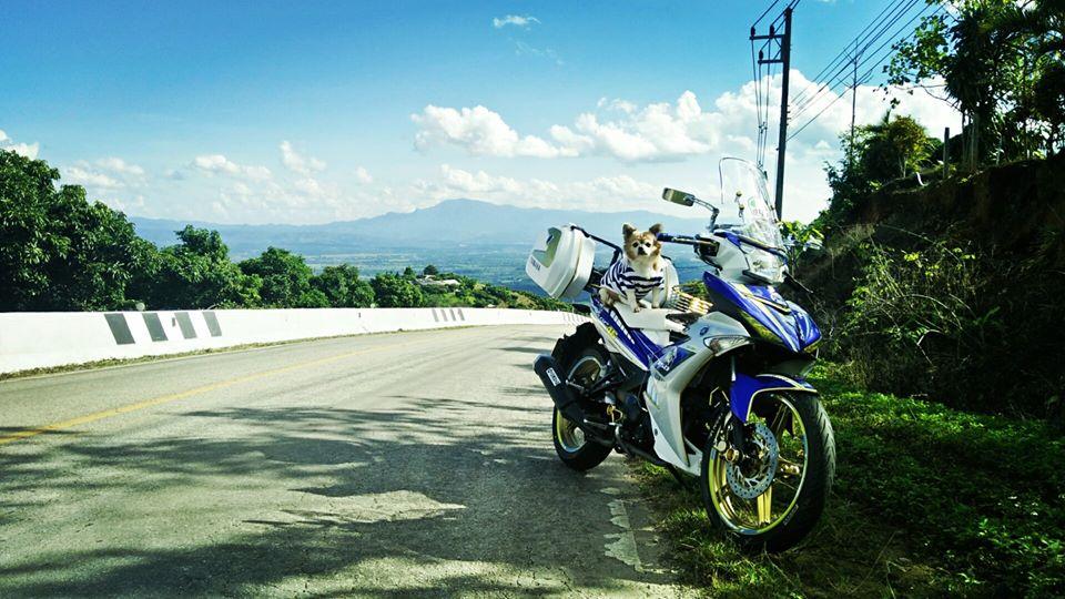 Bo anh chu cun dang yeu di phuot tren chiec Exciter 150 do cua biker nuoc ban - 11