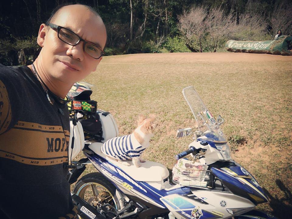 Bo anh chu cun dang yeu di phuot tren chiec Exciter 150 do cua biker nuoc ban - 5