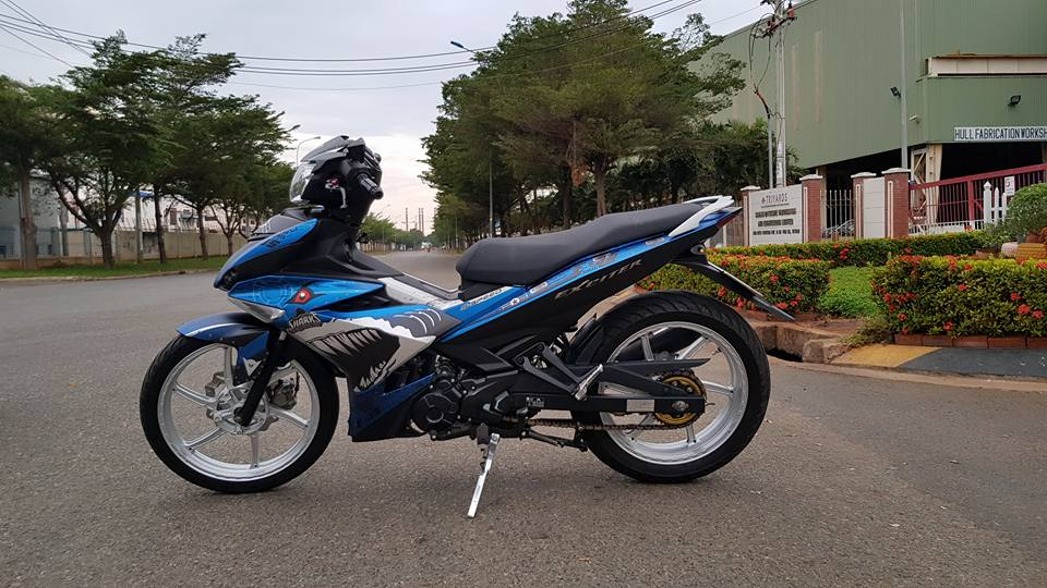 Exciter 150 do chat voi dan chan cung cap ket hop cung bo canh ca map - 3