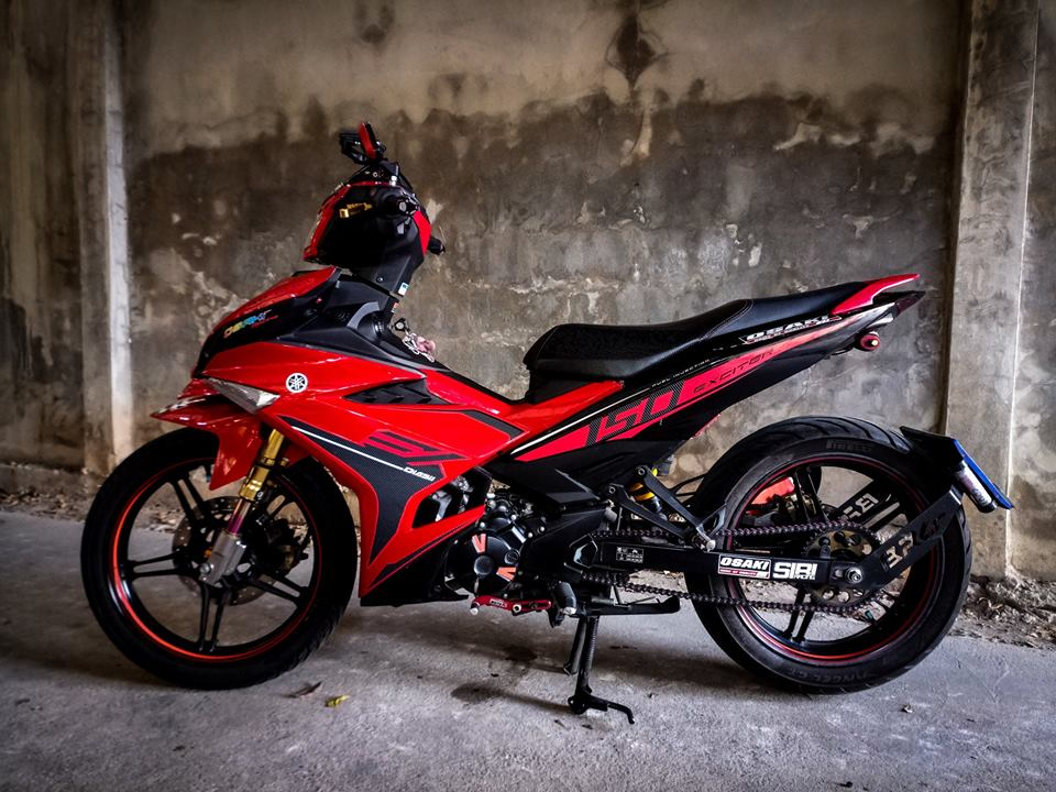 Exciter 150 do cuc ngau voi anh mat Sole cua biker nuoc ban - 5