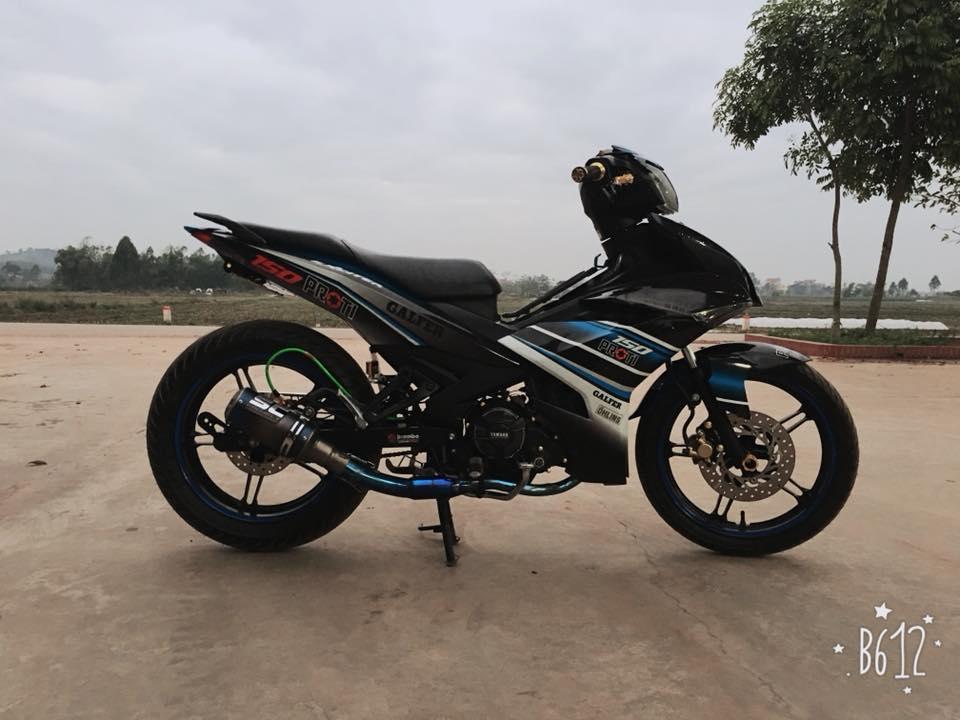 Exciter 150 do khoe mong tra hinh o cay xang cua biker Bac Ninh - 5