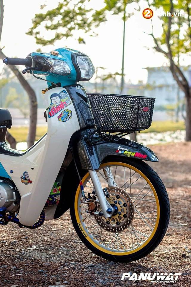 Honda Cub Fi do huy hoang vuot bac moi thoi dai cua biker xu chua vang - 6