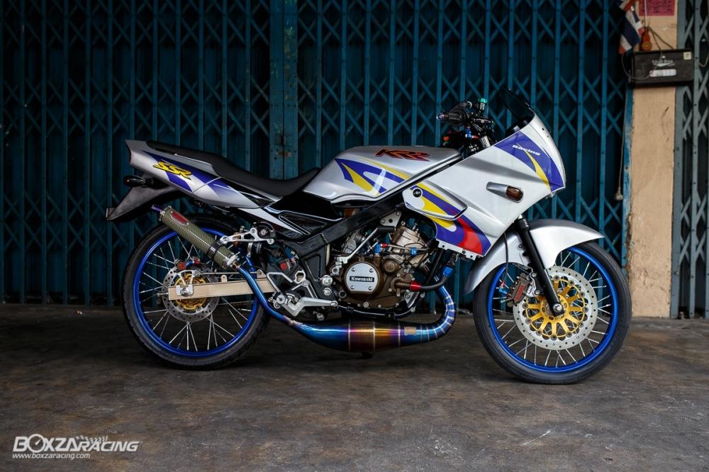 Kawasaki Kips 150 do kieng cuc khung voi dan do choi hang hieu - 22