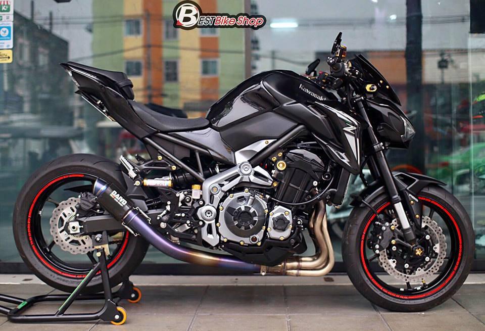Kawasaki Z900 Nakedbike pho dien trang bi cong nghe toi tan - 7